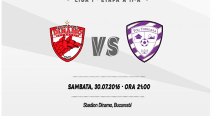 Ponturi pariuri – Dinamo – Poli Timisoara