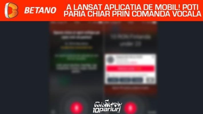 betano app comandă vocală
