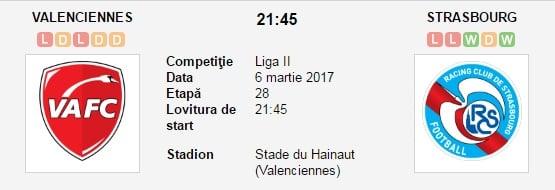 Ponturi pariuri Valenciennes vs Strasbourg