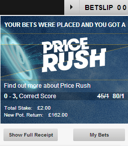 price rush betfair