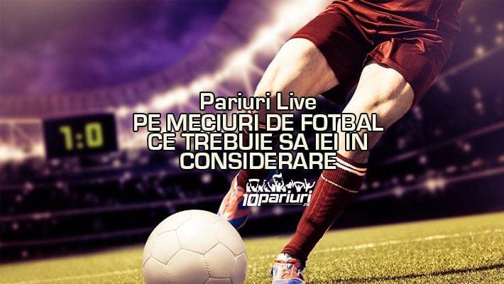 pariuri live pe meciuri de fotbal