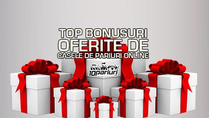 Top bonusuri la casele de pariuri online