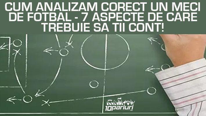 analiză meci fotbal