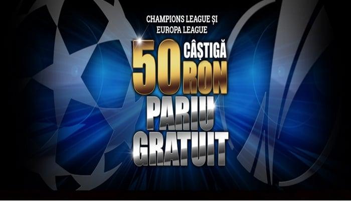 Ia-ti acum 50 RON pariu gratuit pe Liga Campionilor si Europa League la Winmasters !! 1