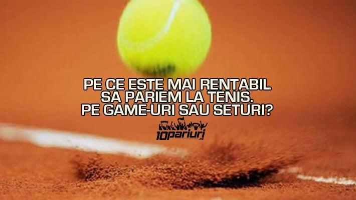 Ponturi tenis pe game și set