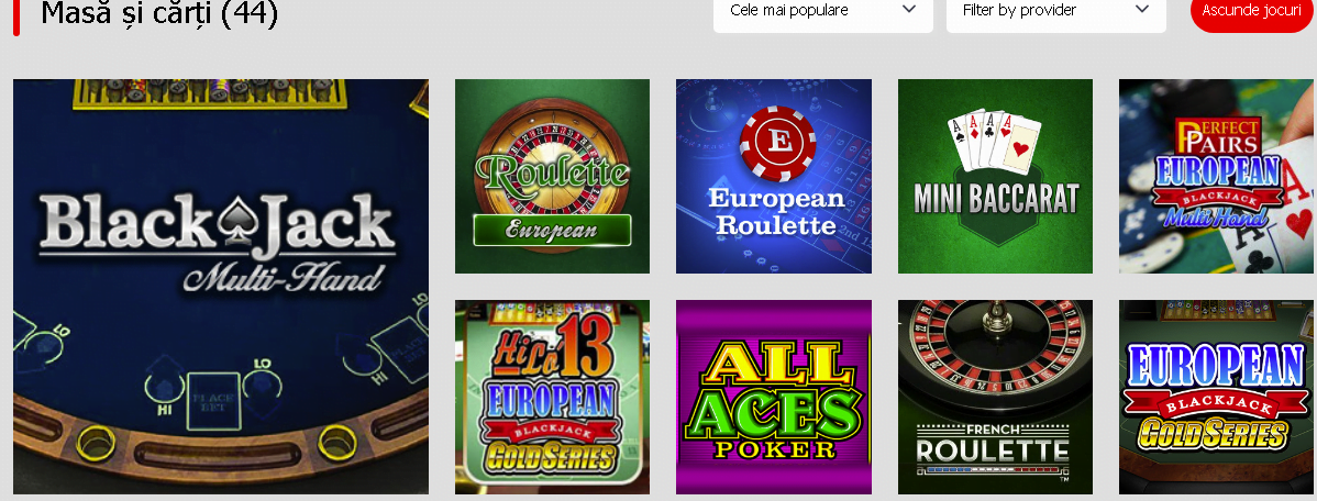 winmasters casino jocuri de masă