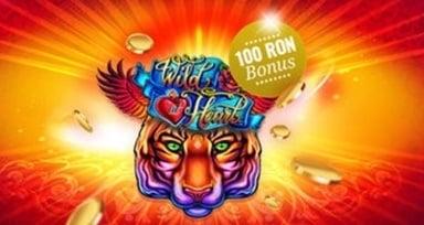 bonus 100 ron la admiral la noul slot wild at heart 1