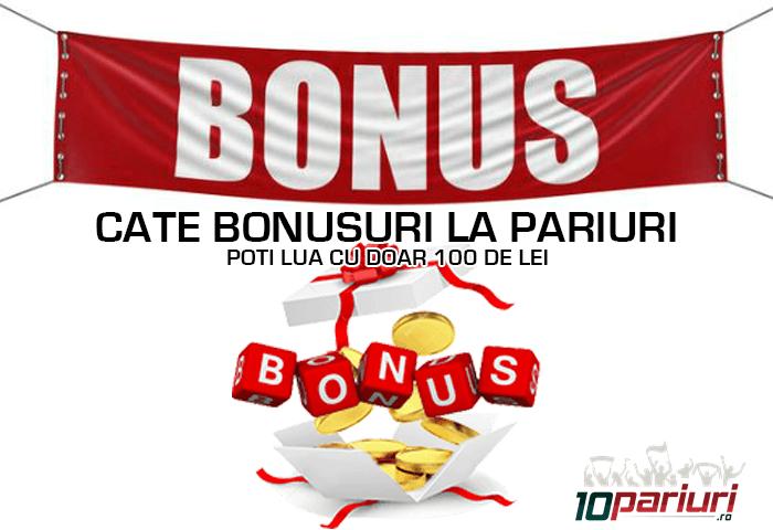 Cate bonusuri la pariuri poti lua cu doar 100 lei