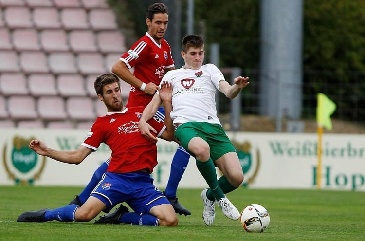 Ponturi fotbal augusburg II Scwhweinfurt Regionalliga Bavaria 11.08.2018