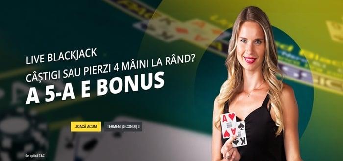 Joaca aici 4 maini la Live Blackjack – a 5 a e gratis