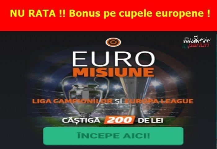 Misiune Betano pe Liga Campionilor si Europa League ai 200 RON Full bet