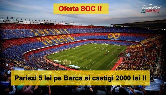 Pariu de 5 RON la Barcelona – Sevilla care iti aduce 200 RON castig Nu rata