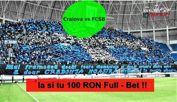 U. Craiova FCSB misiune betano