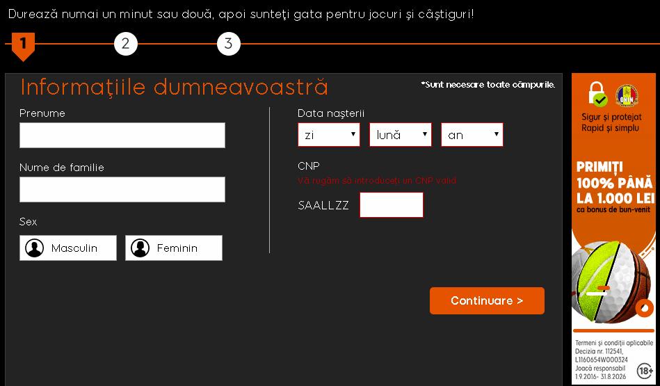 888sport cont nou - informațiile dumneavoastră