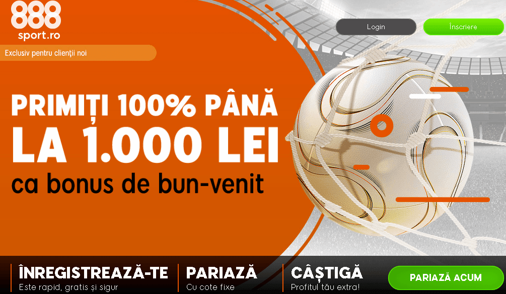 bonus 888sport 100% până la 1000 lei