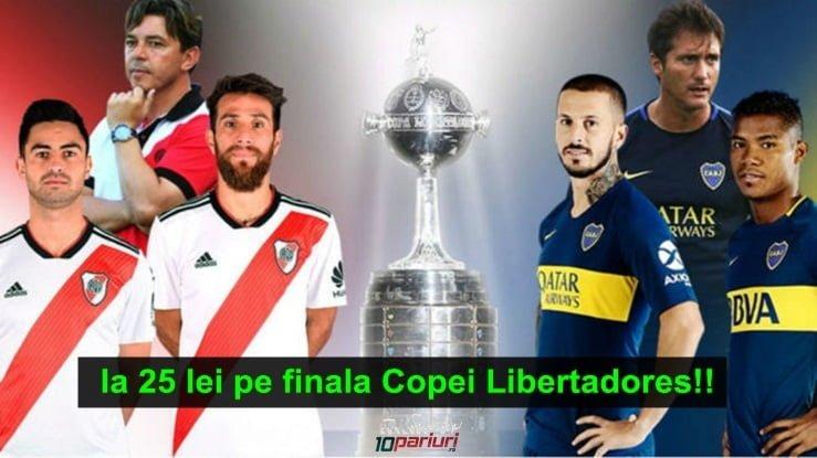Pariezi pe finala Copei Libertadores. Aici primesti 25 RON Full Bet