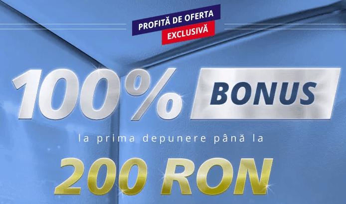 sportingbet bonus 100% până la 200 ron