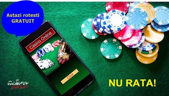 Joaca azi 1 decembrie 2018 intre 5 si 500 rotiri gratuite la casino online