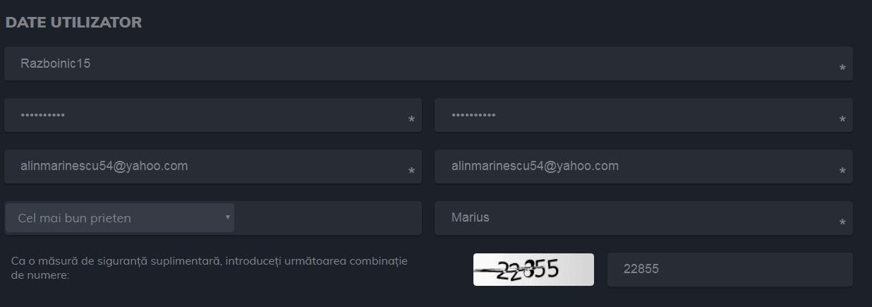 publicwin cont nou - date utilizator