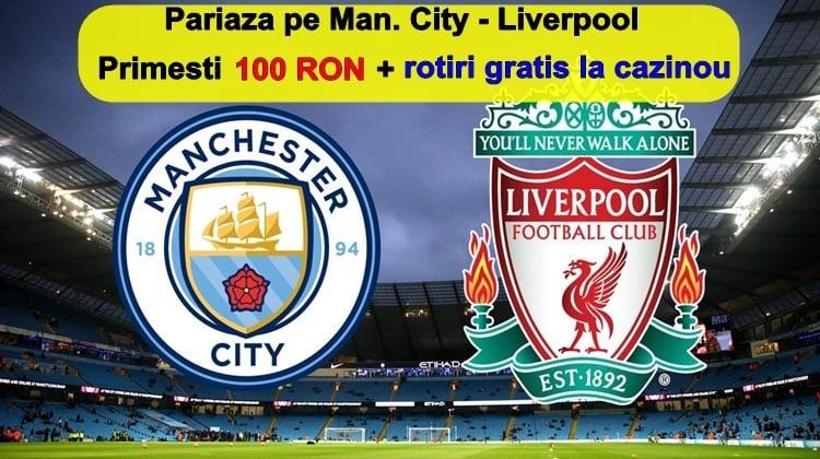 Full Bet de 100 RON pe Manchester City vs Liverpool rotiri gratuite la cazinou