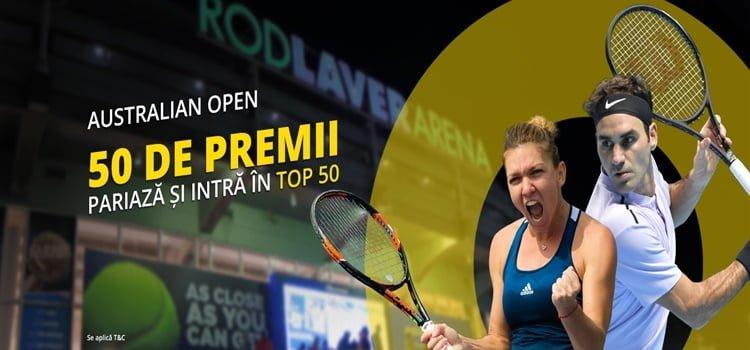 Pariaza la Fortuna pe Australian Open te asteapta premii de 130.000 RON