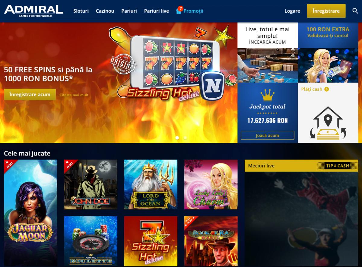 bonus admiral casino 2019