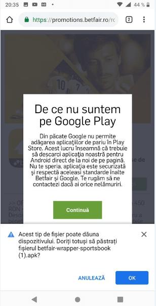 betfair google play