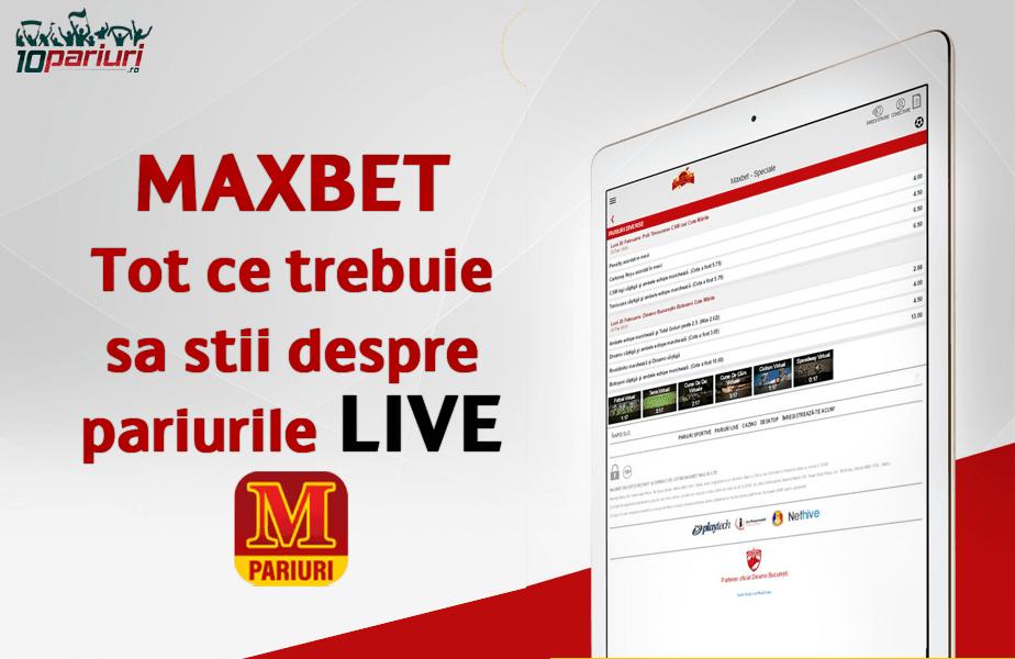maxbet pariuri live informații utile