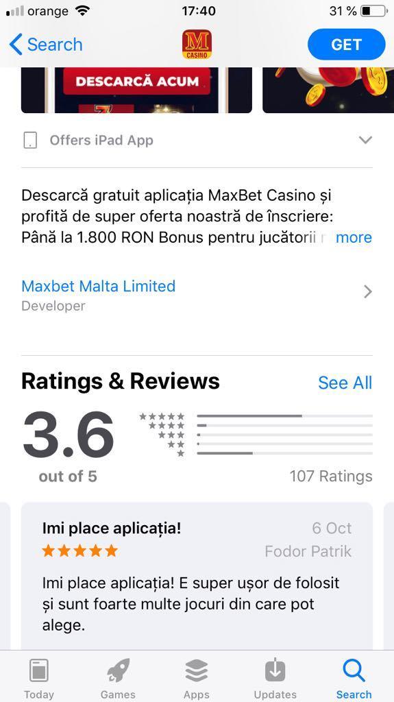 Maxbet Casino app