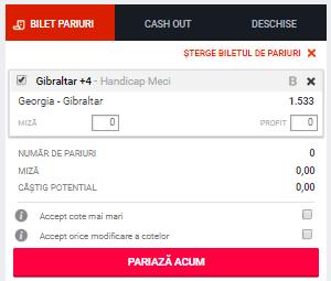 ponturi pariuri Georgia vs Gibraltar
