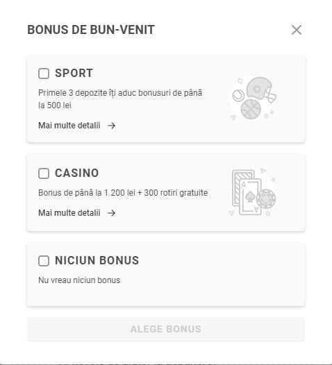 alegere bonus superbet
