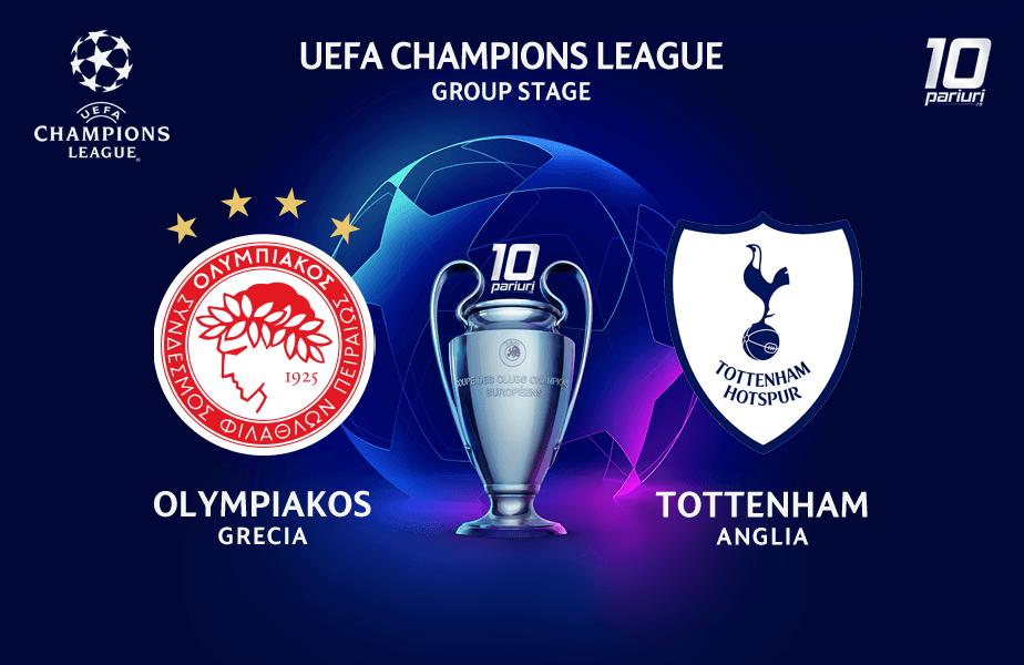 ponturi pariuri Olympiakos vs Tottenham