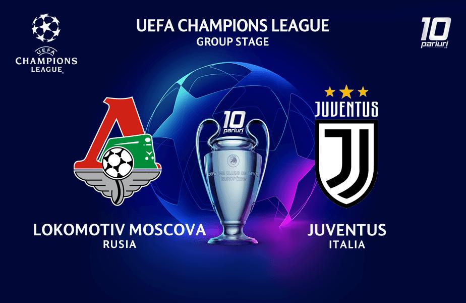 Ponturi Lokomotiv Moscova vs Juventus Torino