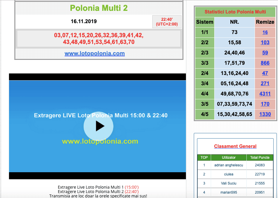 extragere live multi