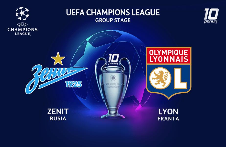 Ponturi Zenit vs Lyon