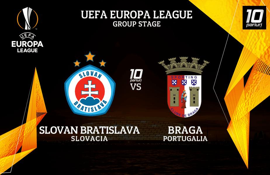 Ponturi fotbal Slovan Bratislava vs Braga
