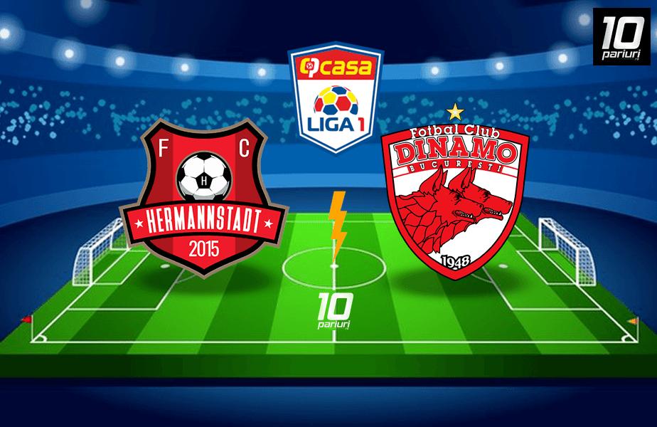 Ponturi fotbal Hermannstadt vs Dinamo
