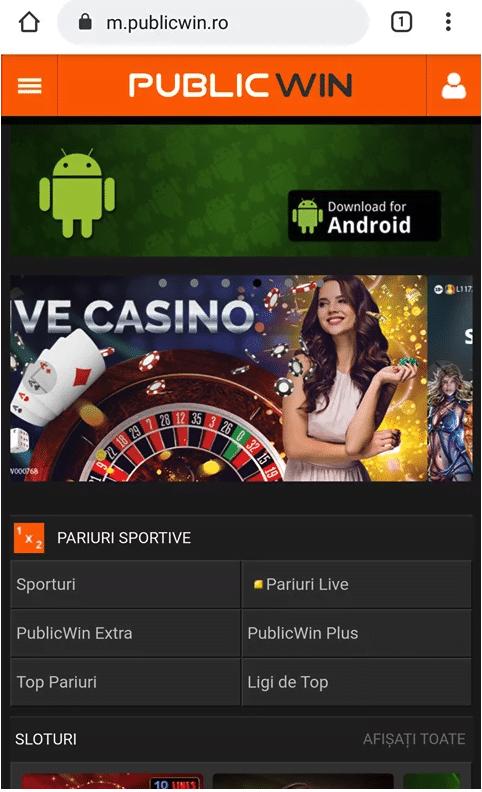 aplicatia publicwin casino