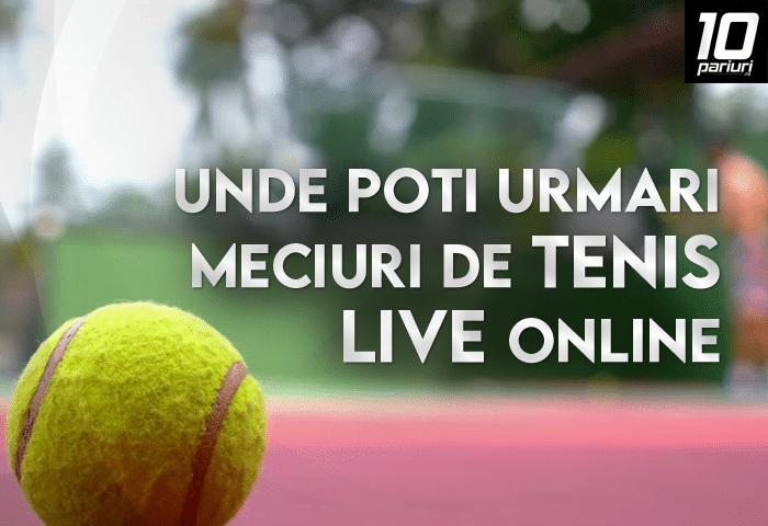 unde poți urmări meciuri de tenis live online