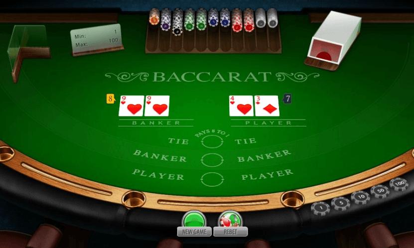 Baccarat masă