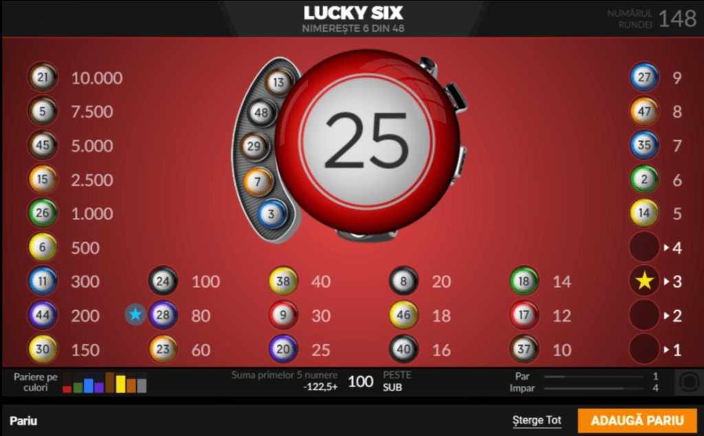 lucky six extragere