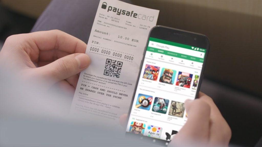 încărcare paysafecard din aplicație