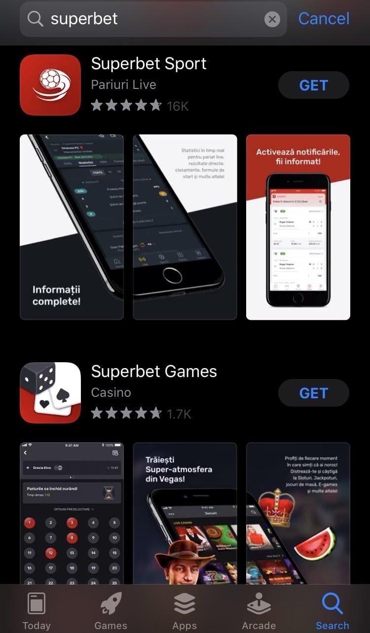 superbet app store