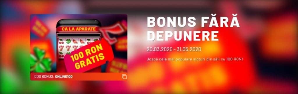 bonus fara depunere la maxbet casino