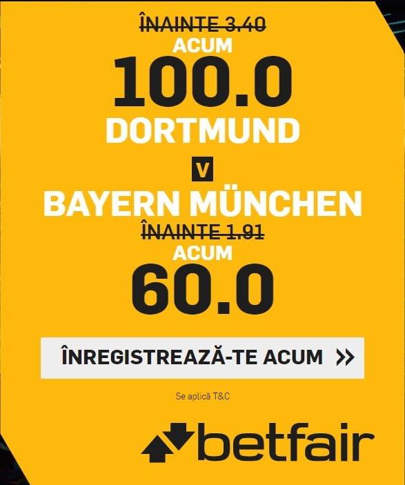 cote marite Dortmund vs Bayern