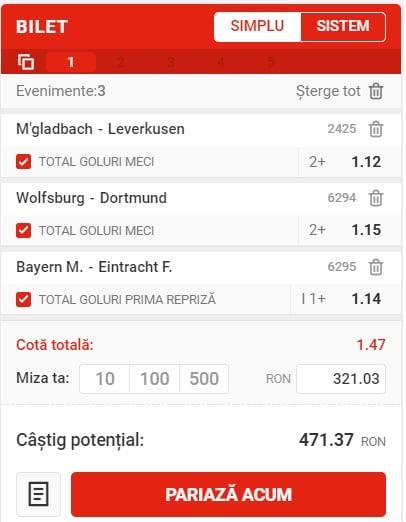 Germania - Bundesliga Bayern Munchen - Frankfurt