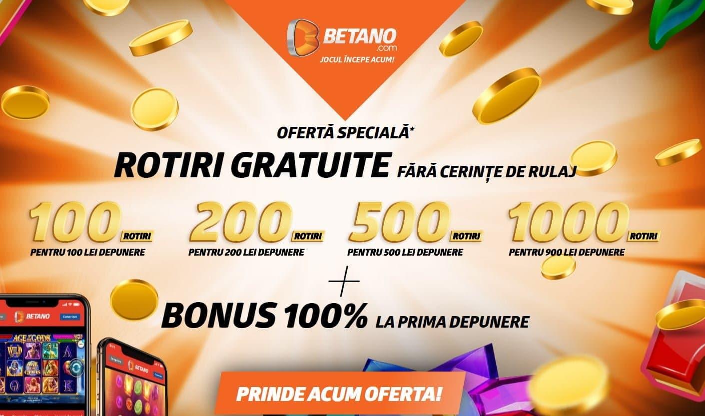 bonus 1000 rotiri gratis betano