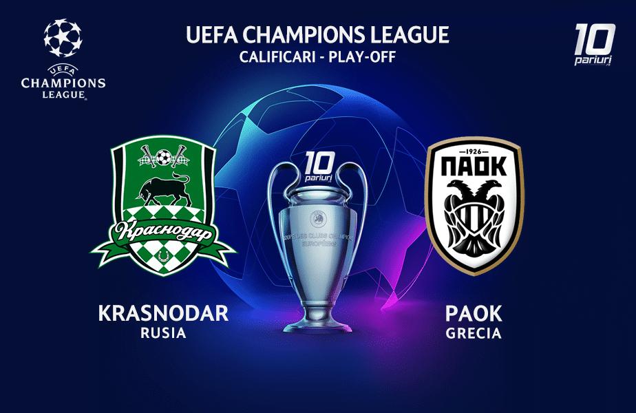 Krasnodar - PAOK ponturi pariuri 22092020