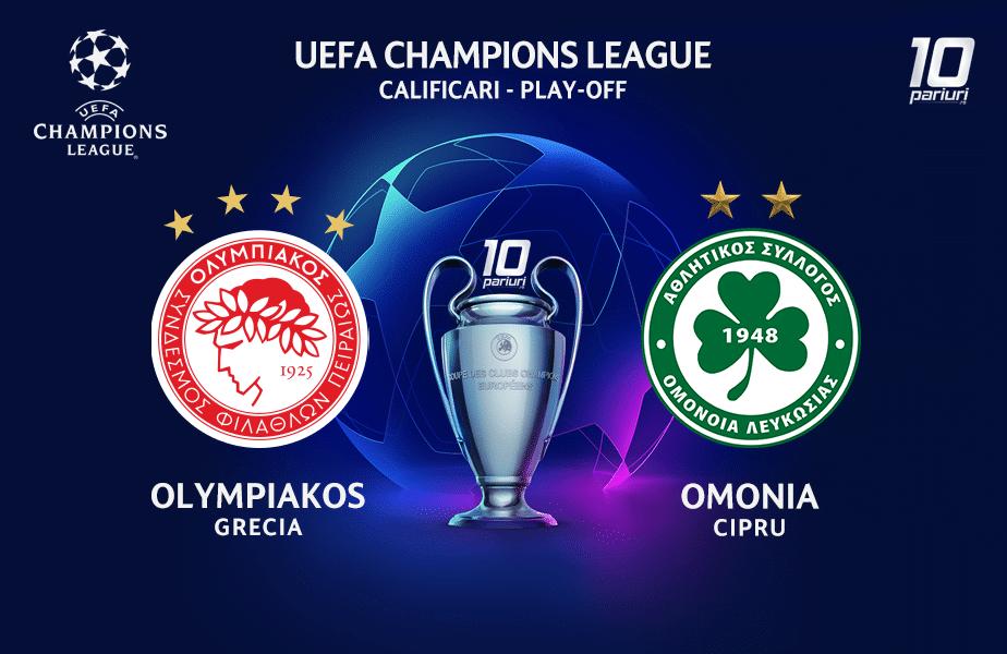 Olympiakos - Omonia ponturi pariuri 23.09.2020