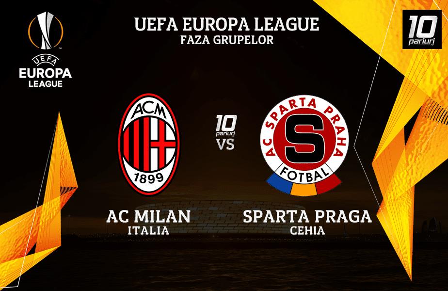 AC Milan - Sparta Praga ponturi pariuri 29102020